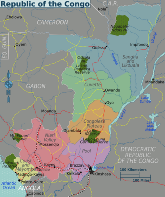 CongoBrazzaville regions mappng REPUBLIC OF CONGO TOURISM