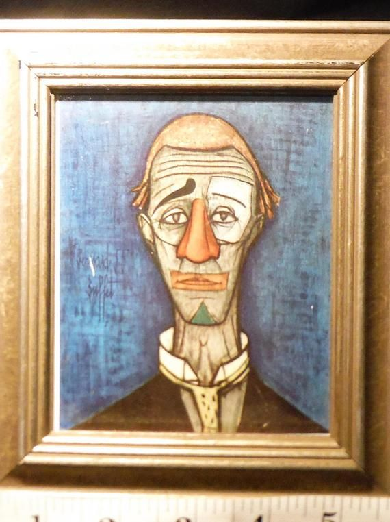 Astonishing Purchased At Estate Sale Cirque Series Bernard Buffet Head Interior Design Ideas Apansoteloinfo