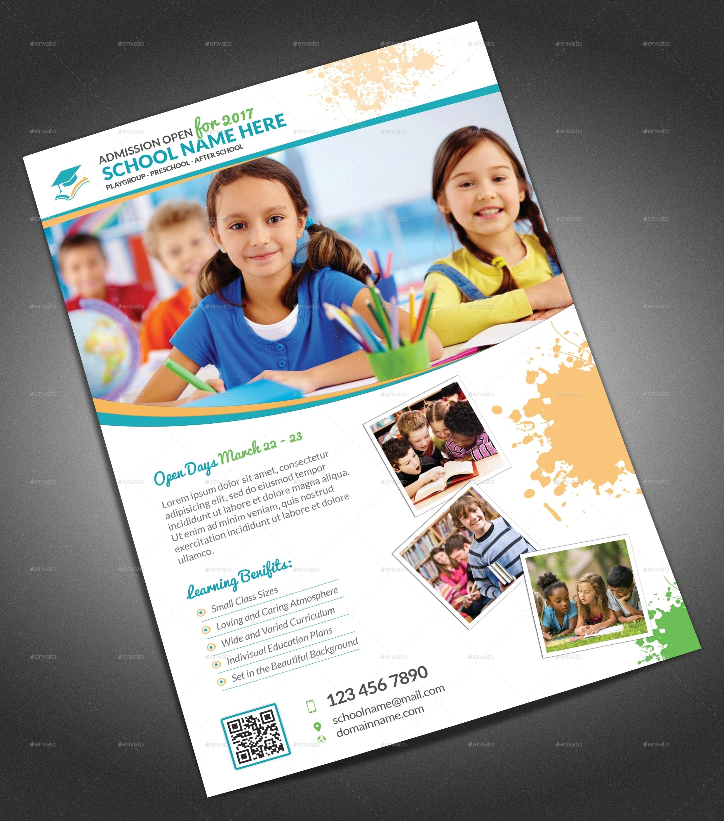 School Flyer By Themedevisers Graphicriver Education Pinterest