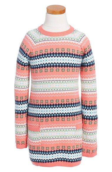 Fair Isle Cotton & Cashmere Dress (Toddler Girls, Little Girls ...