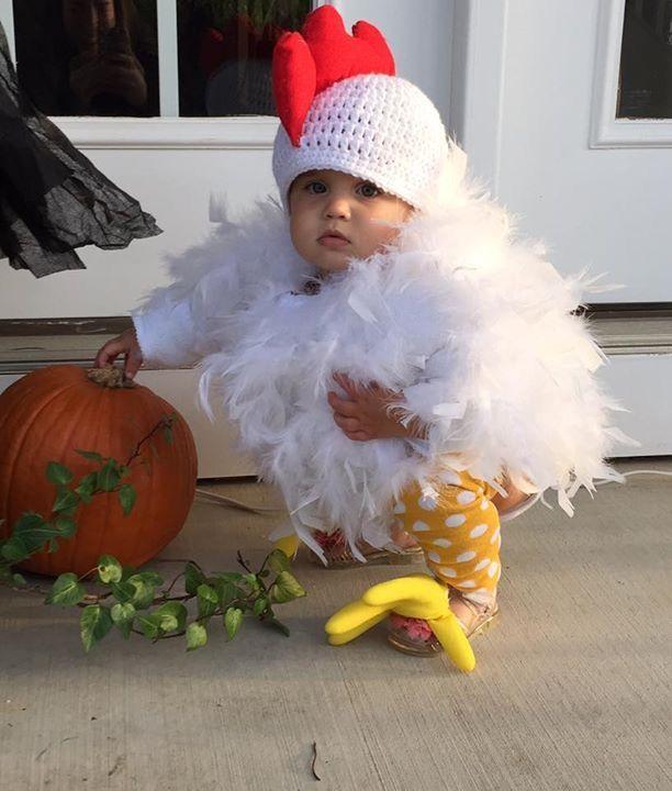 Kids chicken costume! chicken cheech Pinterest Chicken - food halloween costume ideas
