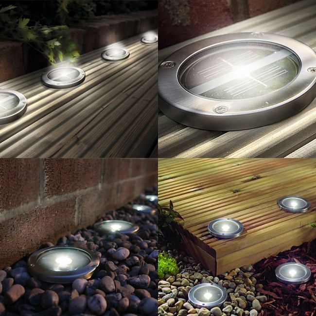 White Solar Lights Outdoor Part - 17: This Outdoor Solar Powered LED Deck Lights In White, Are An Ideal Way Of  Brightening Up Your Garden. Cheap To Run, And Using Bright LED Chips, ...