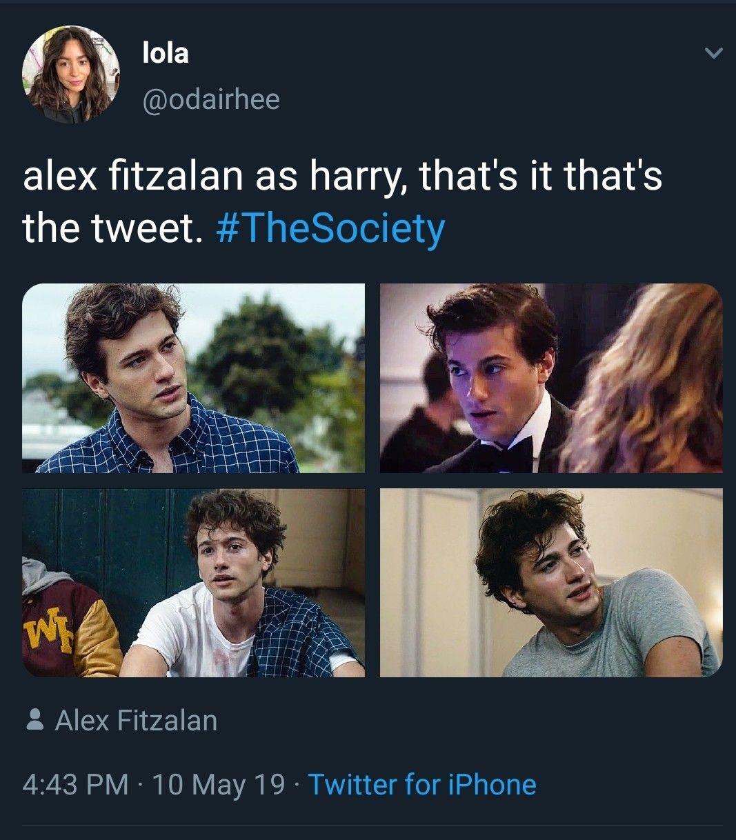 The Society Netflix Memes Alex Fitzalan as Harry