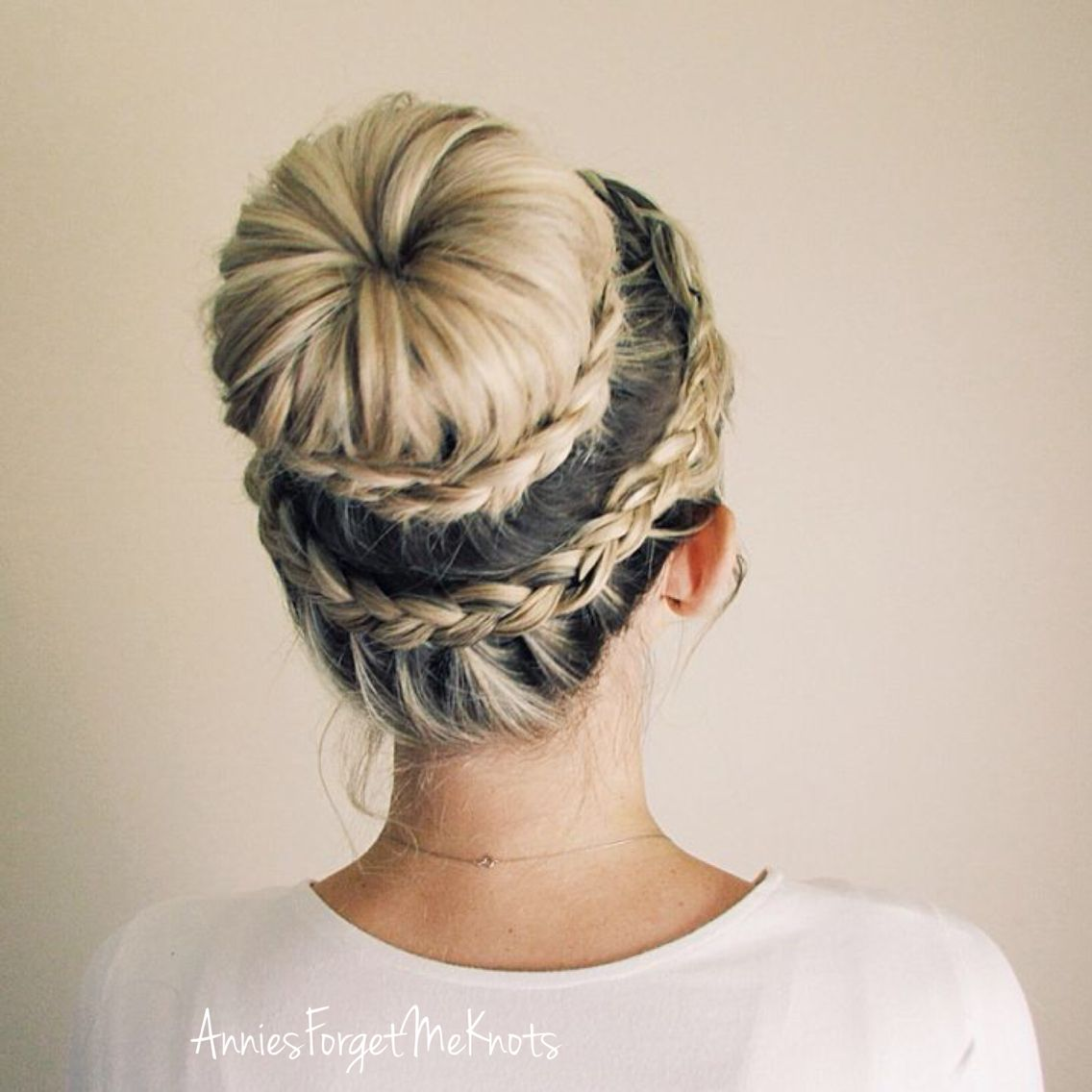 How To Lace Dutch Crown Braid Lace Dutch Braided Bun Ballerina