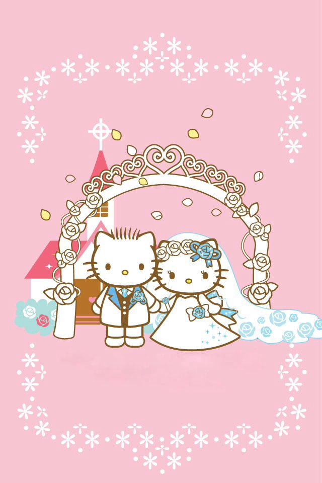 Hello Kitty And Dear Daniel Married Hello Kitty Wallpaper Hello Kitty Wedding Hello Kitty