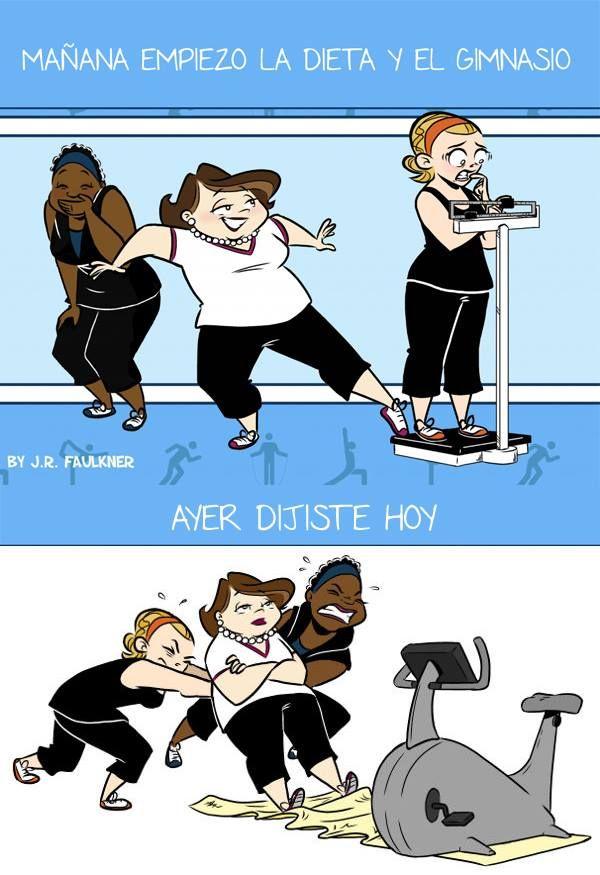 Ma ana empiezo la dieta y el gimnasio waykis del d a for Dieta gimnasio