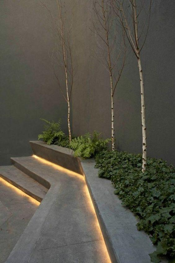 Modern Outdoor Lighting Ideas LED Lights Minimalist Patio Decor | Home  Sweet Home | Pinterest | Outdoor Lighting, Minimalist And Patios