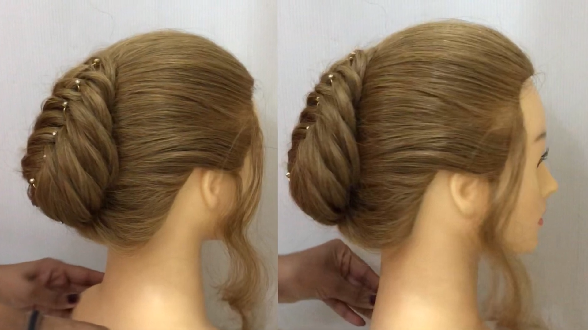 Very Easy French Roll Hairstyle For Thin Hair French Bun Hairstyles 2020 Video French Roll Hairstyle Bun Hairstyles Roll Hairstyle