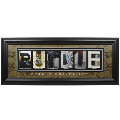 Purdue Boilermakers 8 X 20 Framed Letter Art Letter Wall Art Art Collage Wall Purdue University