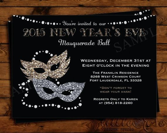 new years eve masquerade party printable invitation card for 2015 new years party masquerade ball 2015 new years eve