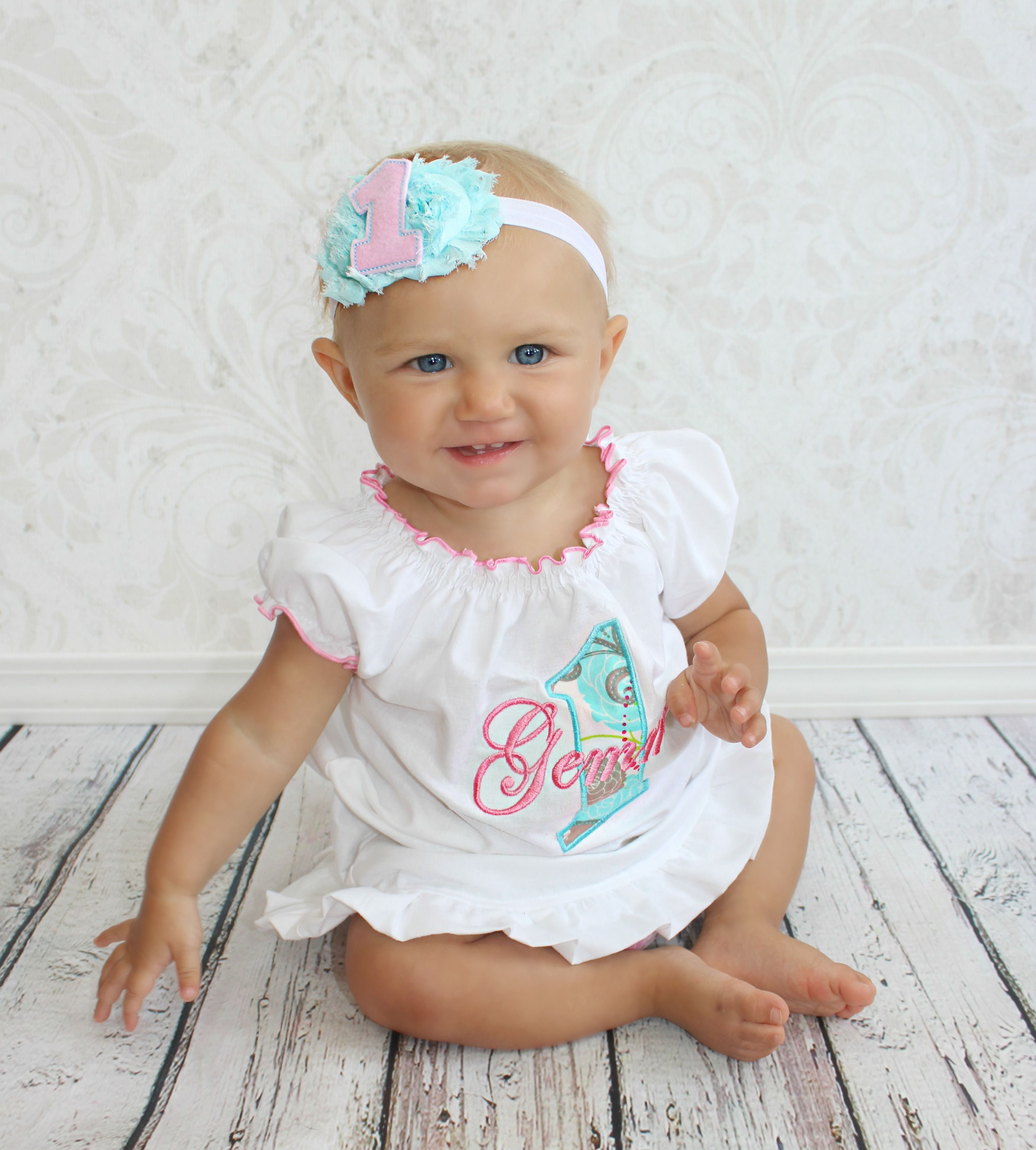 Personalized 1st Birthday Girl Dress Baby Girl First Birthday Dress ...