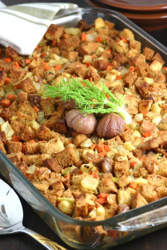 Fennel Apple And Chestnut Stuffing