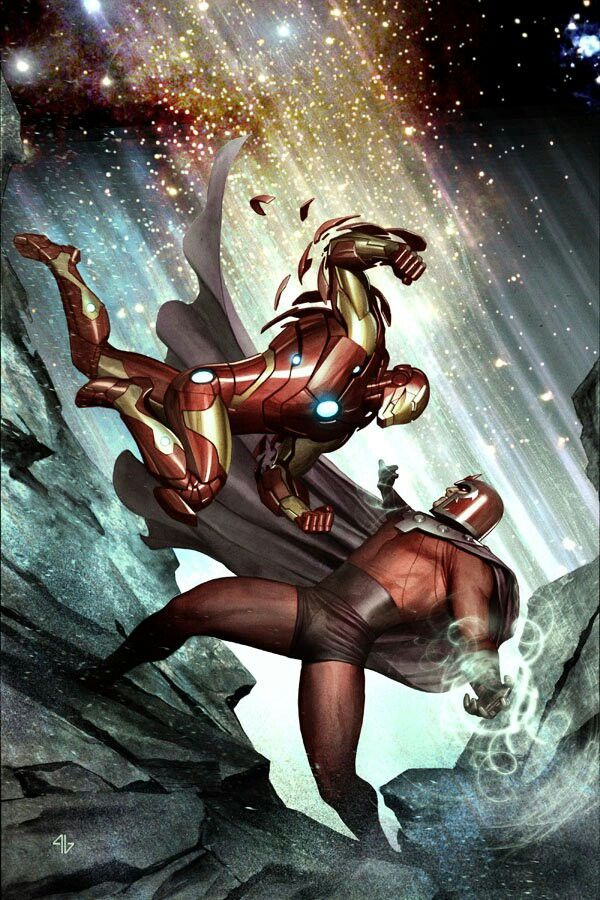 Iron Man vs Magneto by Adi Granov