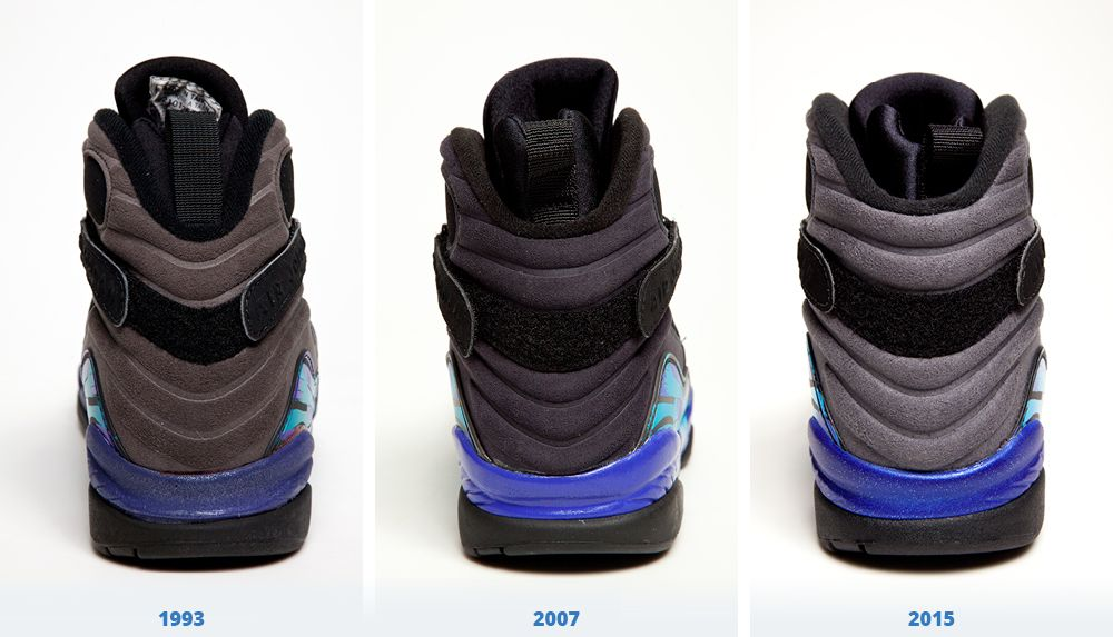 Air Jordan Aqua 8 Retro Comparison | Sole Collector