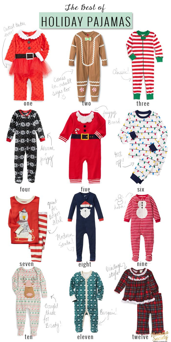 The Best of Christmas Pajamas for Babies | Baby momma, Christmas ...