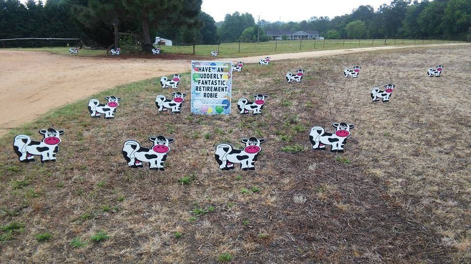 Cow Lawn Sign Rental!!!! Have an udderly fantastic