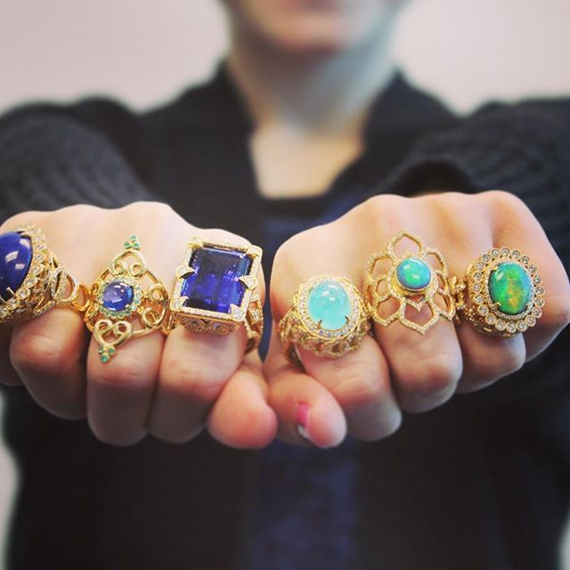 If you could have one of this #dropdeadgorgeous rings just for tonight, which…