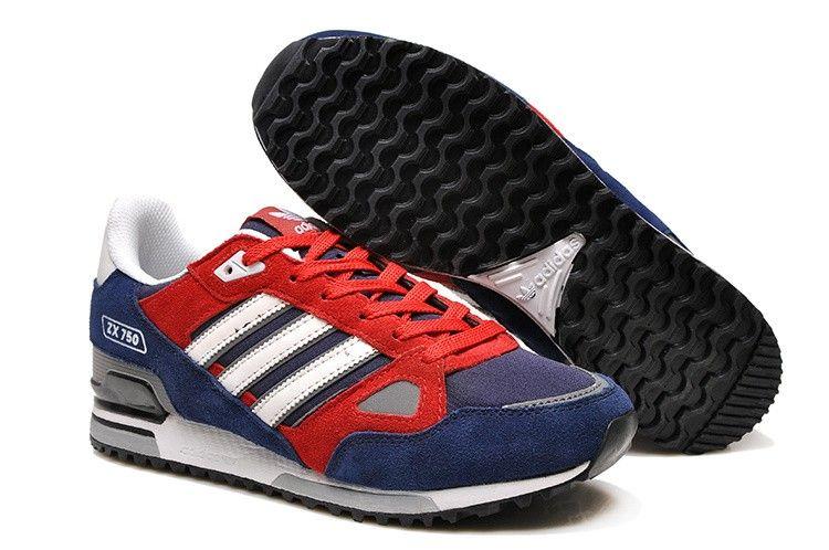 ... zapatillas adidas zx 750 hombre rojas indigo azul shoes pinterest añil  adidas y ...