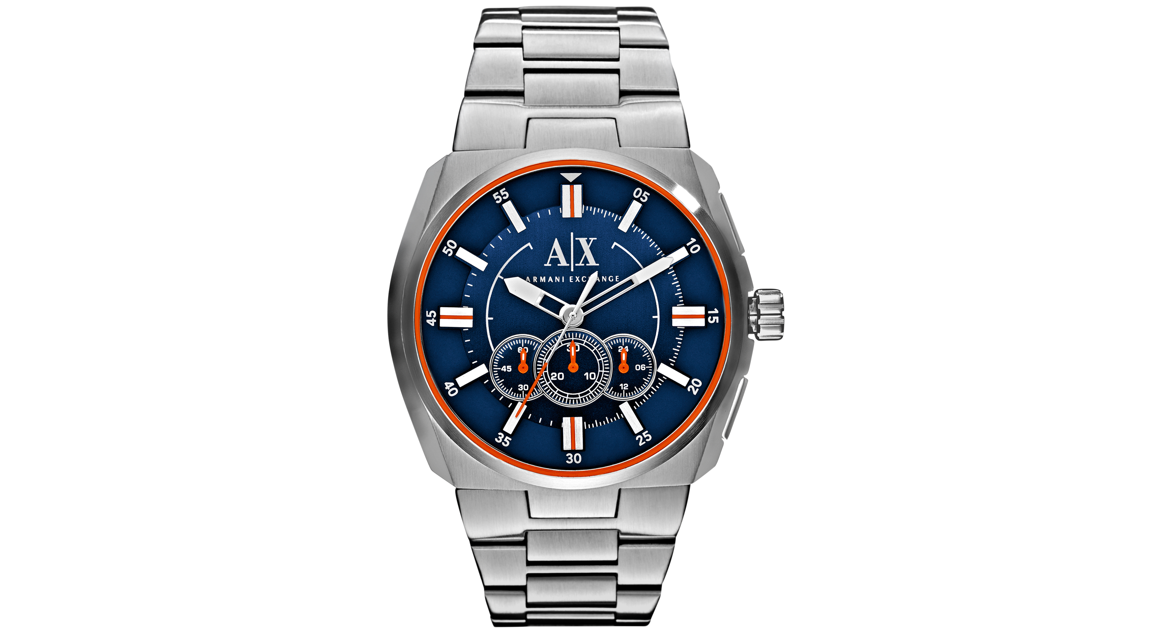 Ax armani exchange menus chronograph stainless steel bracelet watch