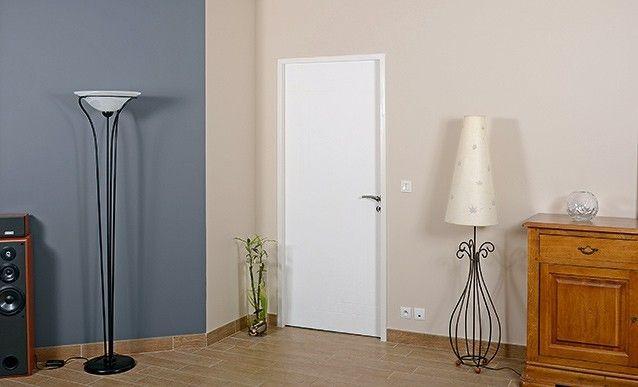 Fermer un couloir avec un bloc porte et des carreaux de pl tre carreau de p - Changer un carreau de porte ...