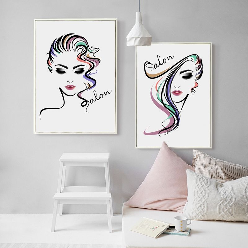 Beautiful Girl Hair Salon Canvas Art Print Poster  Hair Salon Canvas Painting Wall Pictures Hairdressing Shop Decoration #Affiliate  sc 1 st  Pinterest & Beautiful Girl Hair Salon Canvas Art Print Poster  Hair Salon ...