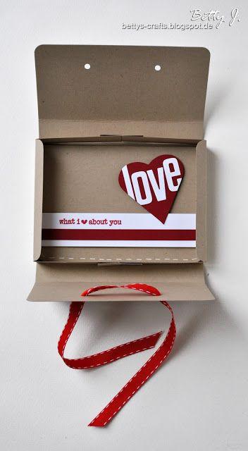 Bettys Crafts: Valentine Box - Gift Card Box