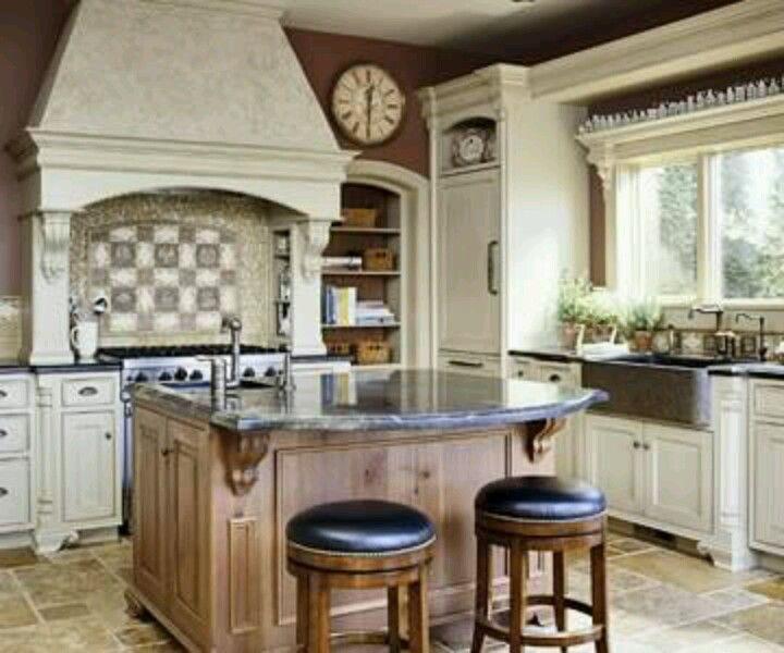 attractive Tuscan Kitchen Floor Tiles Part - 9: Kitchen. Tuscan Kitchen ColorsTuscany KitchenRustic FloorsTravertine FloorsKitchen  FlooringTile ...