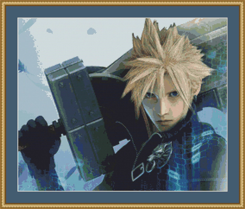 Final Fantasy 7 Cross Stitch Pattern, Cloud Cross Stitch