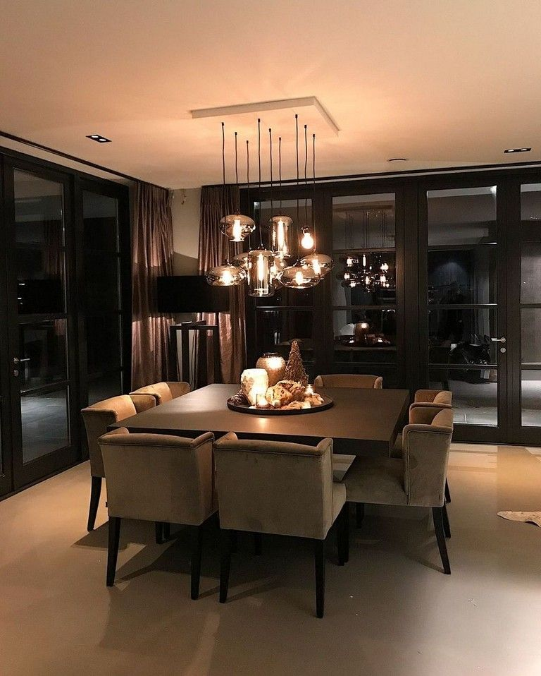 38 Comfy Ideas For Dining Room Lighting In 2020 Elegant Dining Room Luxury Dining Room Luxury Dining