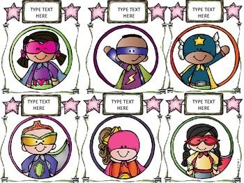 Superhero Brag & Name Tags {FREE}                              …