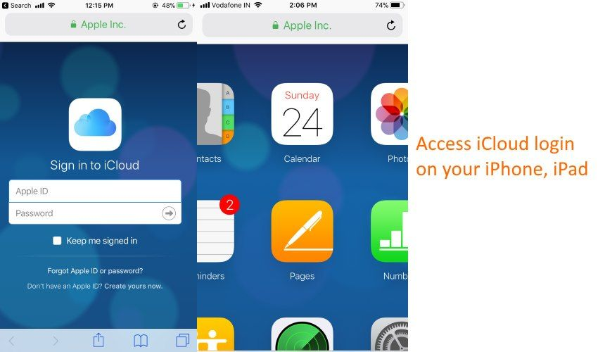 How to login to on iphone x 87 plus66 plus