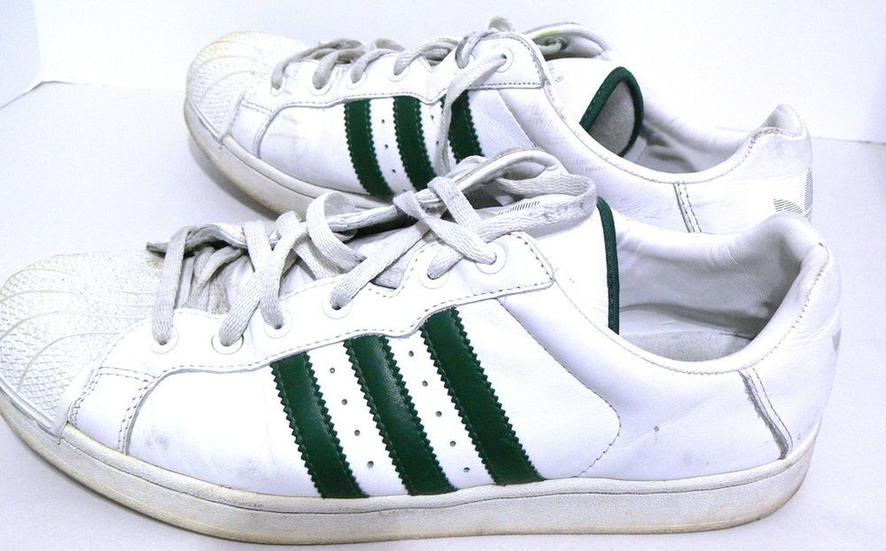 finest selection 5d056 61f73 Adidas Superstar Mens White Sneakers Size 12 Green stripes Shoes  Adidas   AthleticSneakers