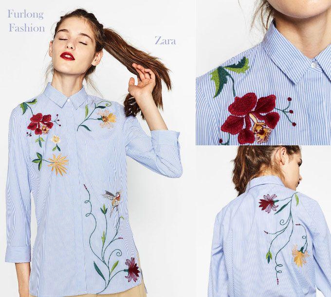 Embroidered shirt furlong fashion zara racing