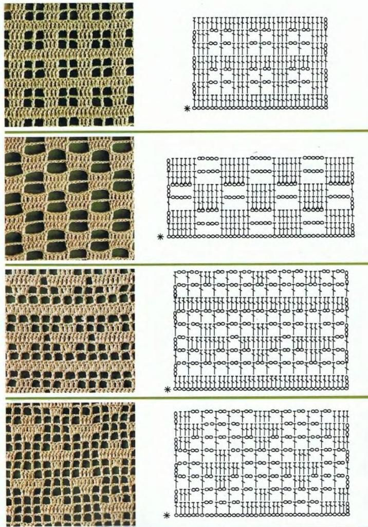 Domihobby.ru: Dozens of openwork crochet stitches with charts ...