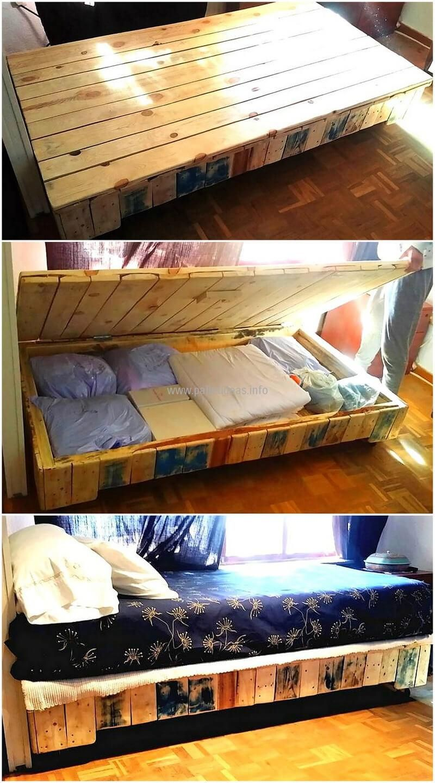 cool pallet beds storage