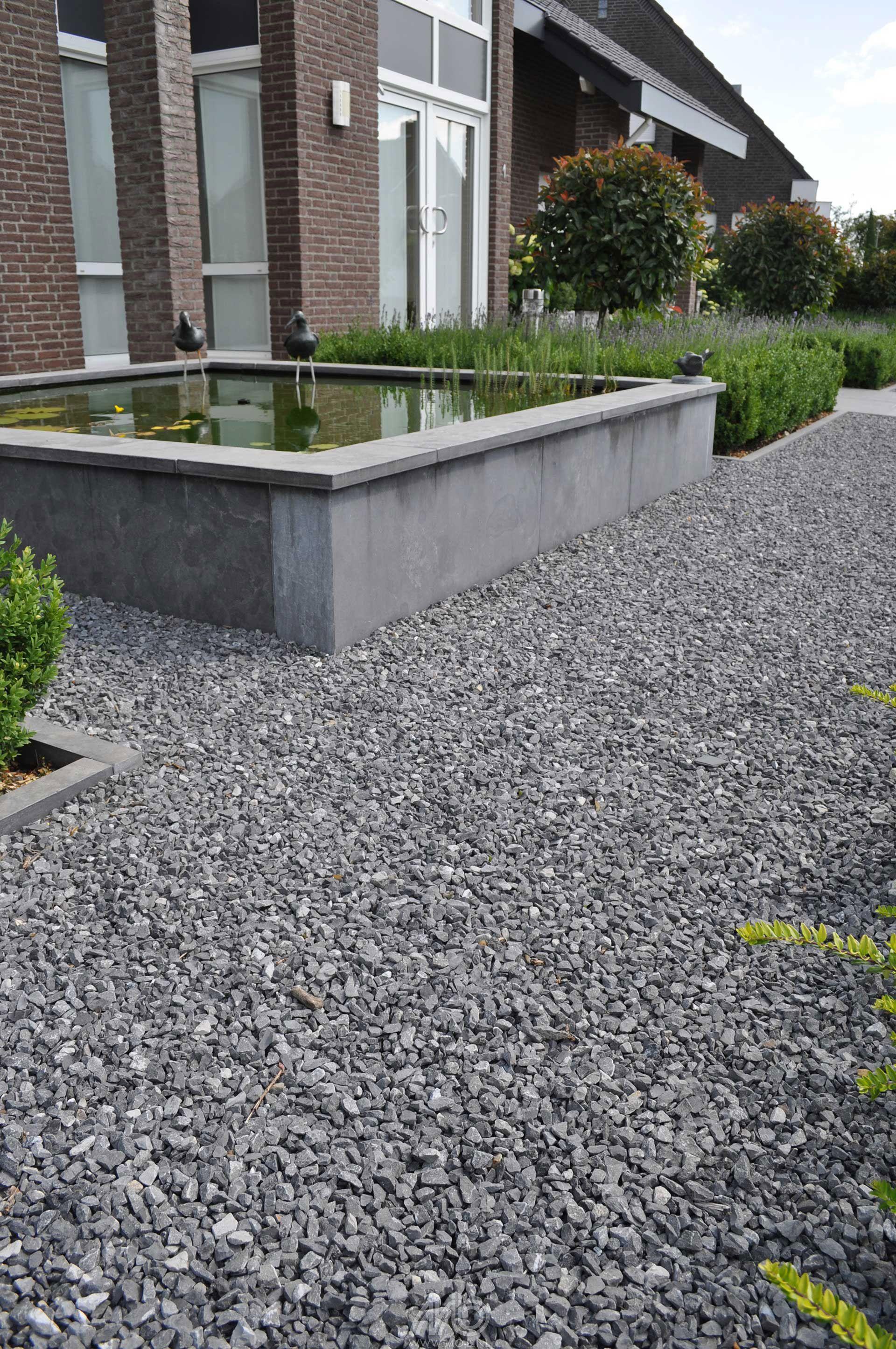 Ardennersplit grijs grind split bodembedekking pinterest grijs tuin en projecten - Tuinuitleg met grind ...