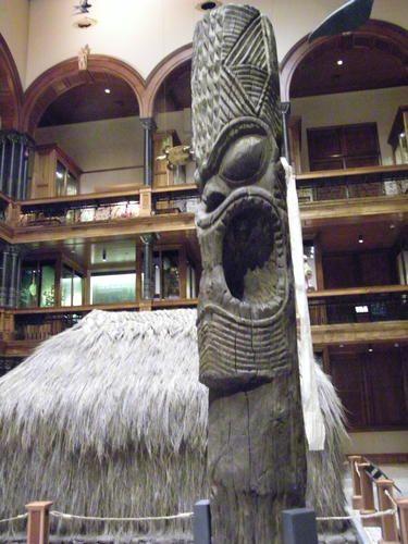 carved Tiki at the Bishop Museum