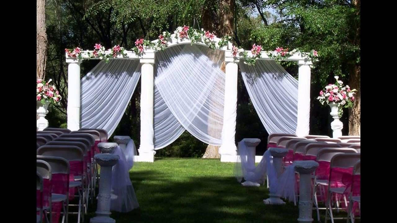 Wedding Decoration Ideas Home Wedding Decoration Decoration For Garden Wed Wedding Ceremony Backdrop Wedding Ceremony Decorations Outdoor Wedding Decorations