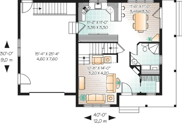 Plan 21506DR Cozy Country Charmer House plans, Country and House
