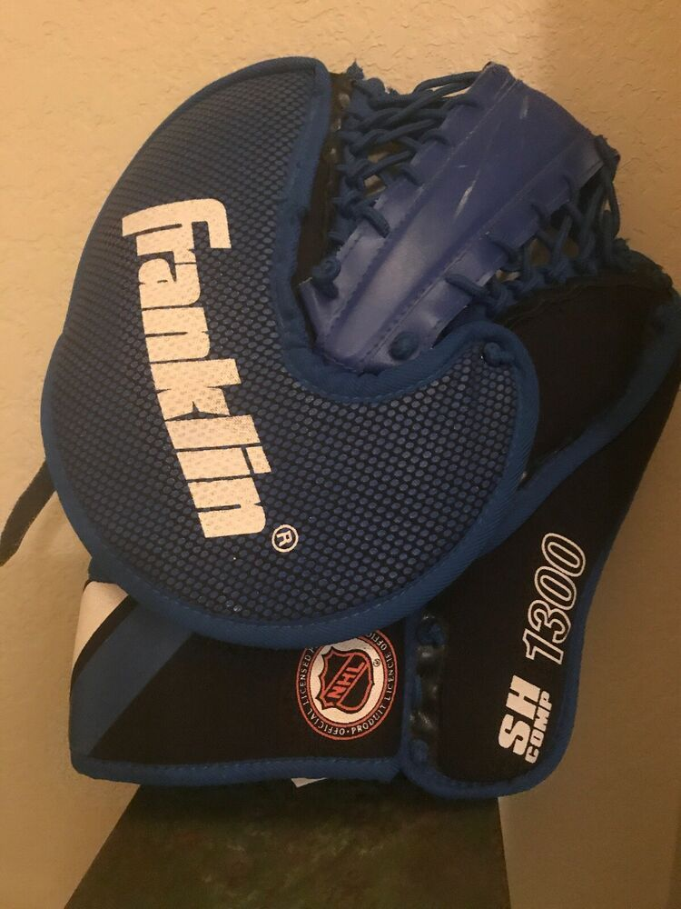 Street Hockey Franklin Sh Comp 1300 Junior Goalie Glove Catcher Mitt Youth Franklin With Images Goalie Pads Goalie Gloves Street Hockey