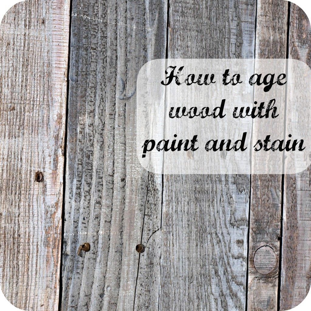 Tutorial showing how to age new wood using paint and stain. We used pallets  with - Tutorial Showing How To Age New Wood Using Paint And Stain. We