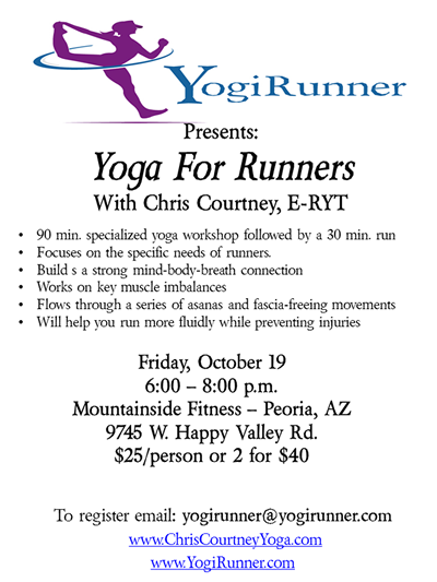 Yoga For Runners Workshop Oct 19 Yoga For Runners Yoga Workshop Strong Mind