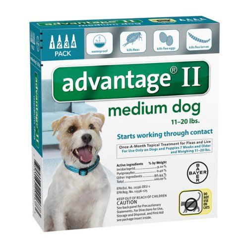 Advantage II Medium Dog 4Pack ** See this awesome image