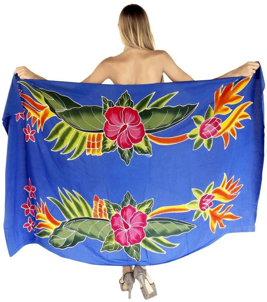 4d98a8d364 LA LEELA Women Beachwear Sarong Bikini Cover up Wrap Skirt Bathing Suit  Pareo  fashion