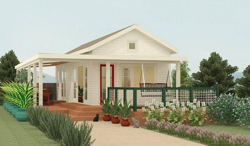 Fachada plano de caba a peque a planos de casa campo o - Planos de casas pequenas de campo ...