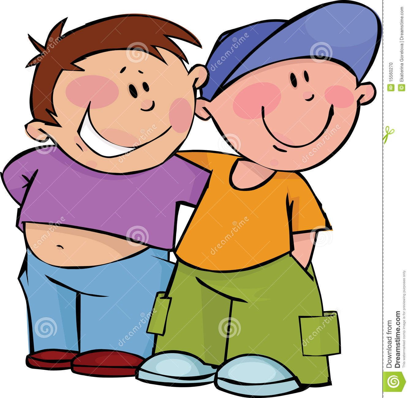 medium resolution of clipart friends two funny boys in a friendly hug