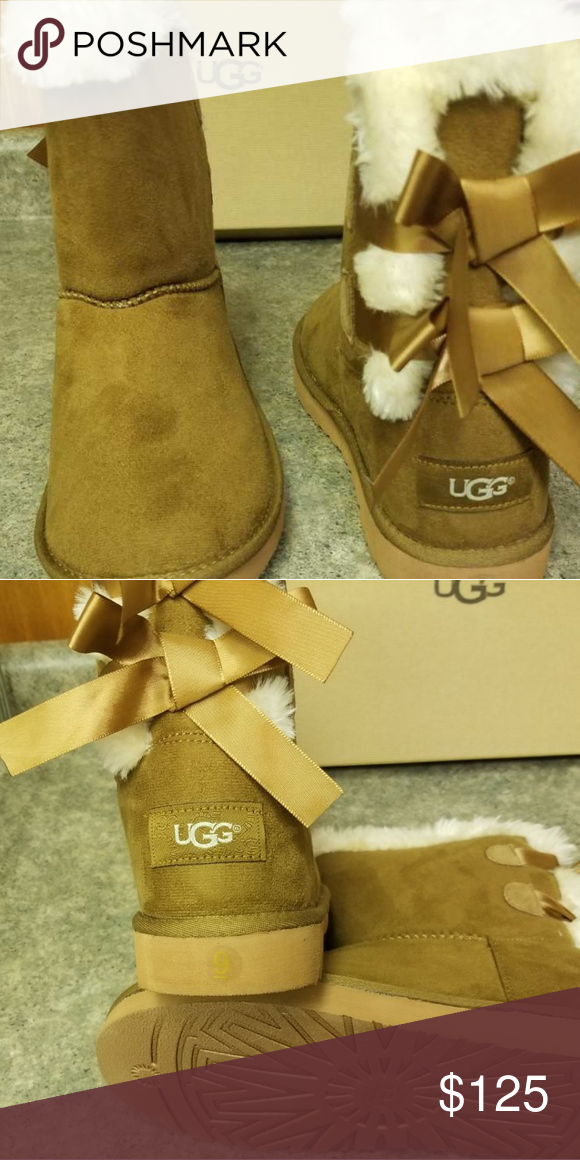4daa7ff54fa UGG boots Brown short (two bow) ugg boots UGG Shoes Winter & Rain ...