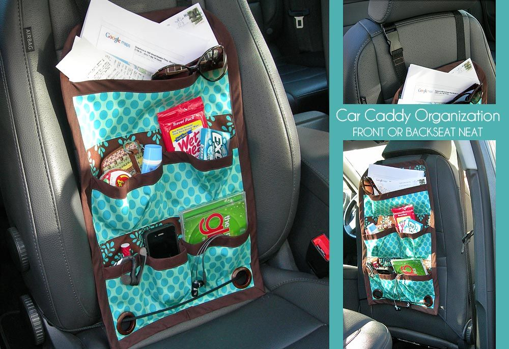 Car caddy tutorial     front or back seat  What a brilliant