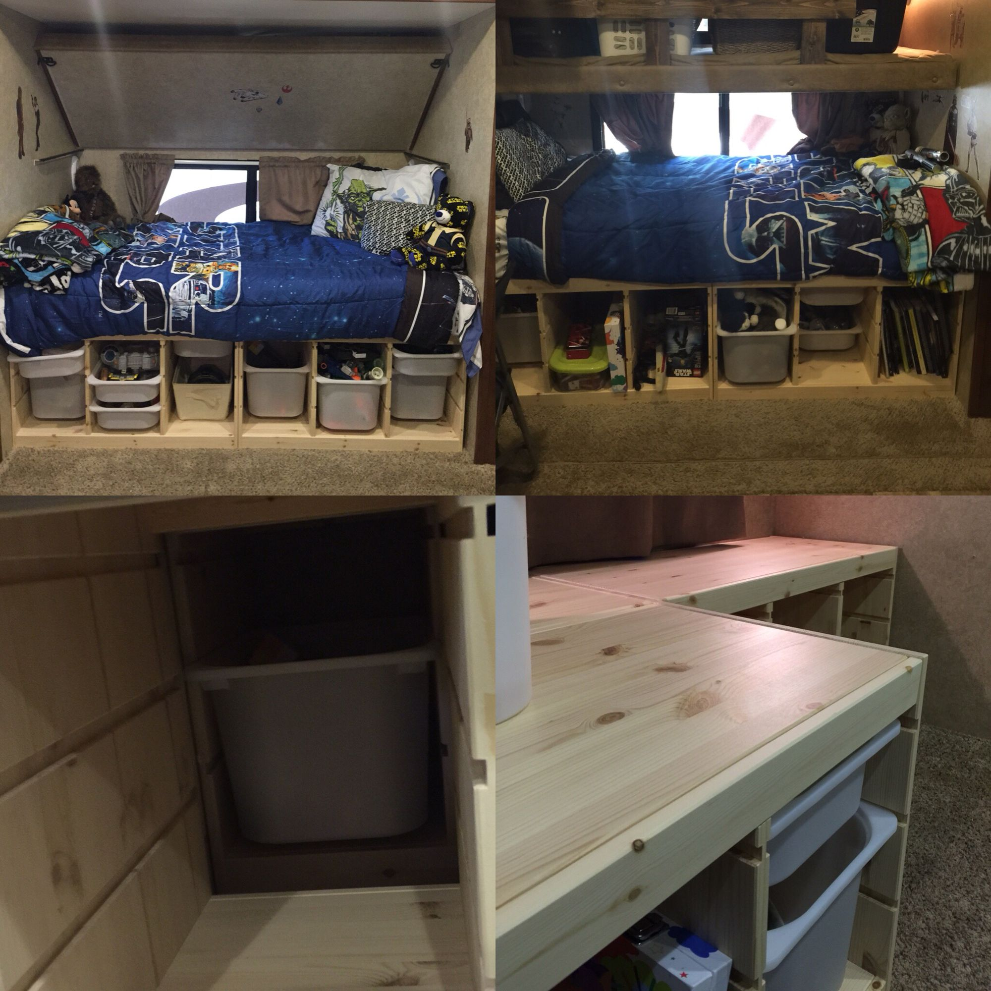 Rvs Wandplank Ikea.Rv Bunk Room Remodel We Didn T Like The Boys Sleeping In Tiny Hard