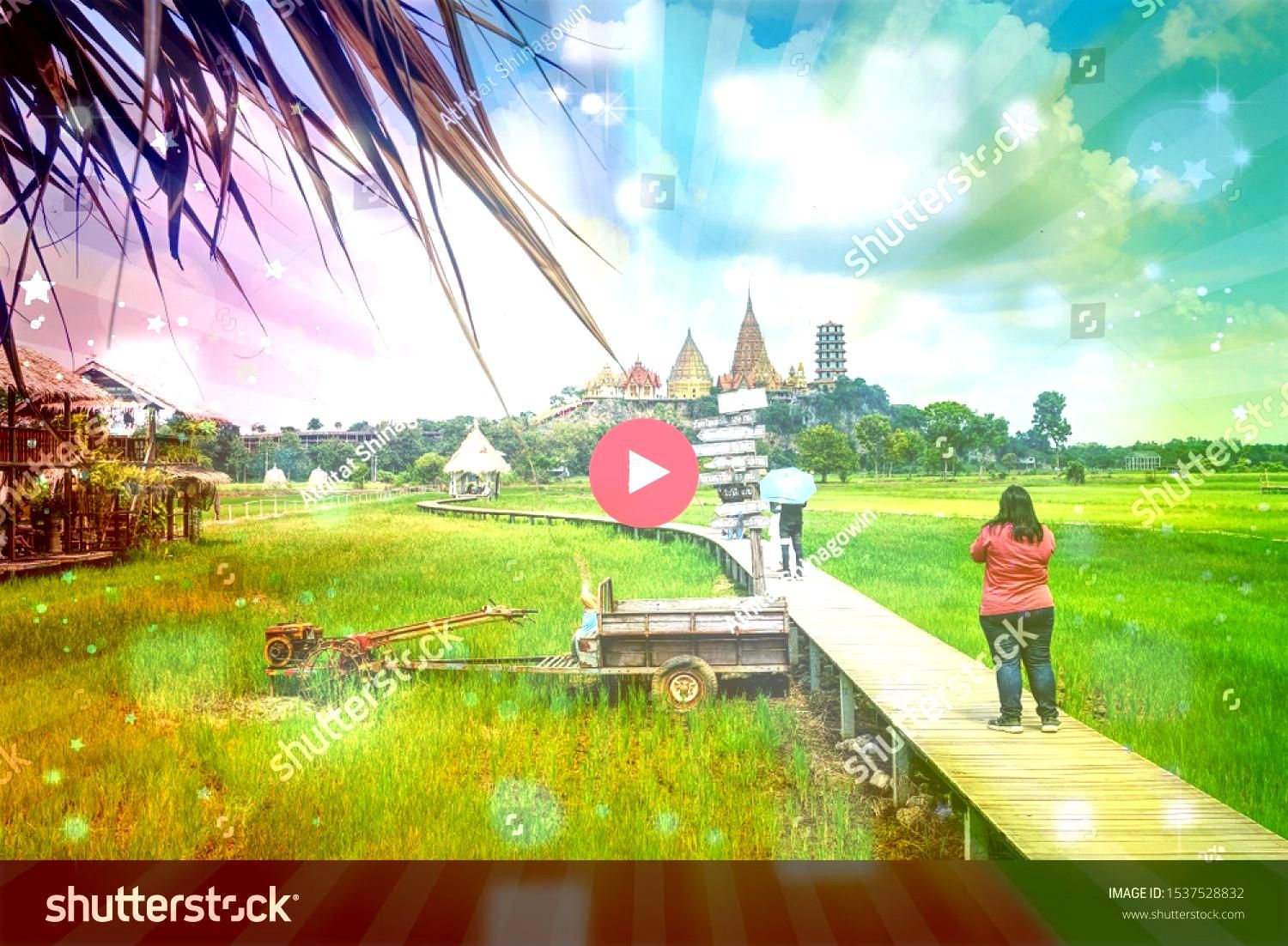 September 2019 Tourist woman stand on the bridge and take photo Tiger cave Temple Editorial image THAILANDKANCHANABURI9 September 2019 Tourist woman stand on the bridge a...